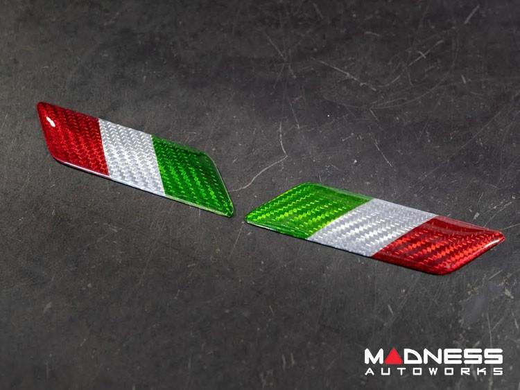 FIAT 500 Badges - Carbon Fiber - Italian Flag
