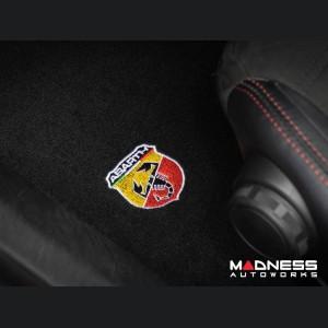 FIAT 124 Floor Mat Set - Black Carpet w/ ABARTH Crest