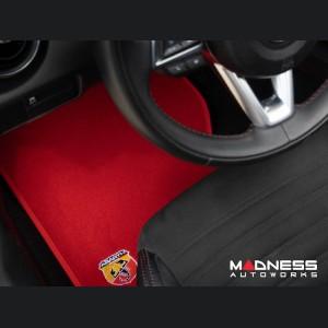 FIAT 124 Floor Mat Set - Red Carpet w/ ABARTH Crest