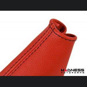 FIAT 124 Spider Gear Shift / eBrake Kit - Boot Red Leather w/ Black Stitching