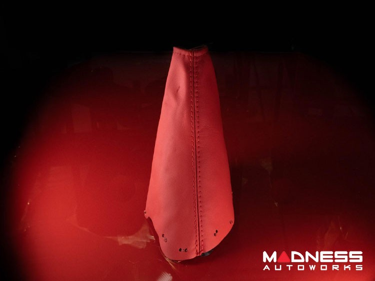 FIAT 124 Spider eBrake Boot Red Leather w/ Red Stitching