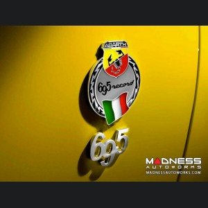 FIAT 500 ABARTH Badge - 695 Record - Rear Quarter Panel