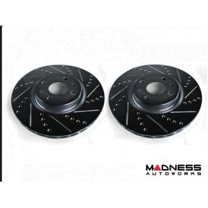 FIAT 500 Brake Rotors by SILA Concepts - Performance - Front Set - Black