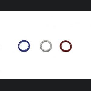 FIAT 500 Center Dashboard Button Trim Kit - Carbon Fiber - France Flag