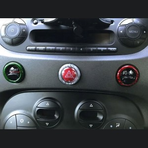 FIAT 500 Dashboard Button Trim Kit - Carbon Fiber - Italian Style
