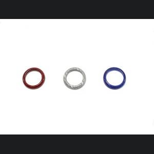 FIAT 500 Center Dashboard Button Trim Kit - Carbon Fiber - American Flag