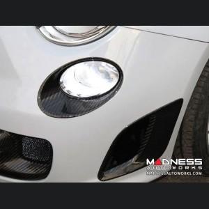 FIAT 500 Driving Lights Frames - Carbon Fiber - EU Model