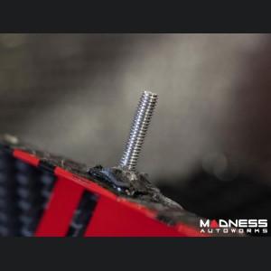 FIAT 500 Rear Diffuser - Carbon Fiber - Red Racing Stripe w/ White Scorpion