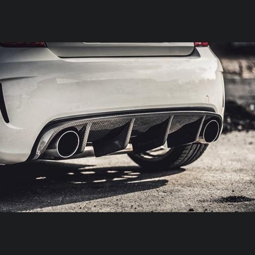 FIAT 500 Rear Diffuser - Carbon Fiber - Aggressive