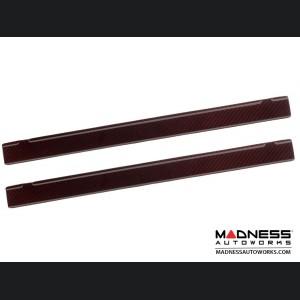 FIAT 500 Door Sills - Carbon Fiber - Red Candy