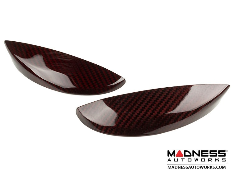 FIAT 500 Eyebrows - Carbon Fiber - Red Candy