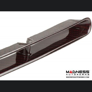 FIAT 500 Front Bumper Grill Insert - Carbon Fiber - Red Candy Finish - NA Model