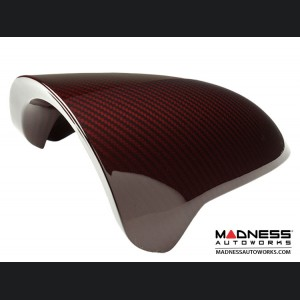 FIAT 500 Instrument Cover - Carbon Fiber - Red Candy