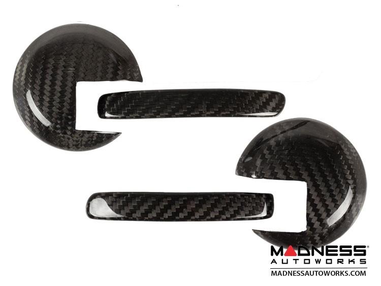 FIAT 500 Interior Door Handle Kit - Carbon Fiber