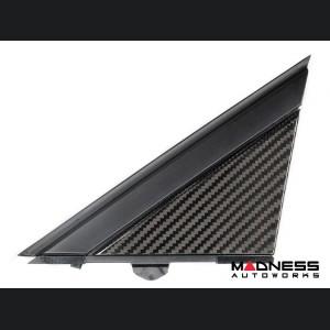 FIAT 500 Pillar Trim - Carbon Fiber - 6pc Set - Genuine ABARTH