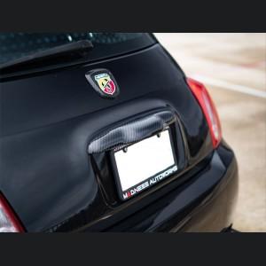 FIAT 500 ABARTH Rear Emblem Trim - Carbon Fiber