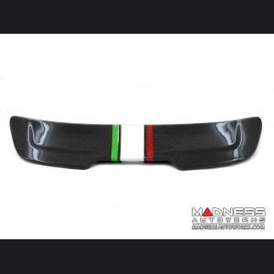FIAT 500 ABARTH Cabrio Roof Spoiler - Carbon Fiber - Italian Stripe
