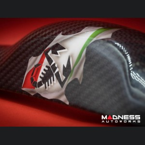 FIAT 500 Trunk Handle - Carbon Fiber - Italian Flag Exposed - North American Model