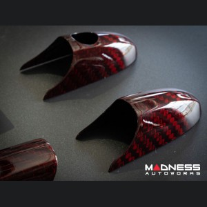 FIAT 500 Door Handles - Red Carbon Fiber