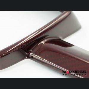 FIAT 500 ABARTH Front Emblem Cover - Carbon Fiber - Brandywine Red