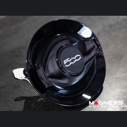 FIAT 500 Fuel Door - Black w/ 500 Logo - Genuine FIAT