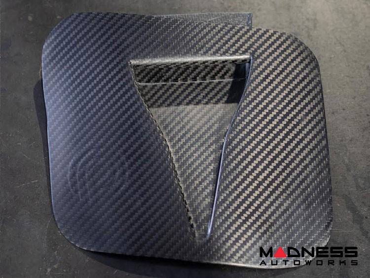 FIAT 500 Hood Scoop - ABARTH NACA Air Intake - Pogea Racing - Carbon Fiber - Raw Finish