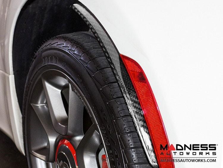 FIAT 500 Splashguards in Carbon Fiber - Set of 2 - Matte Finish