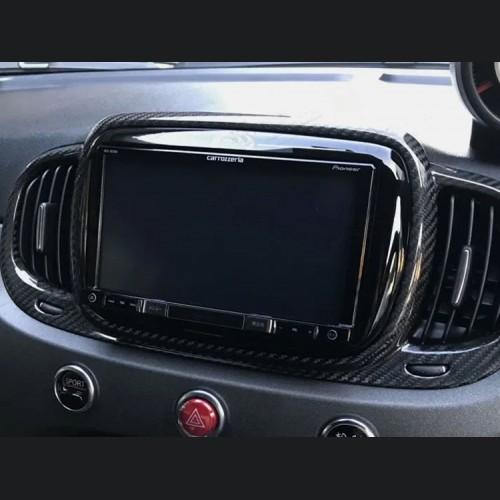 FIAT 500 Audio System Frame Cover - Carbon Fiber