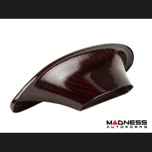 FIAT 500 ABARTH Headrest Inserts - Carbon Fiber (4pc set) - Red Candy