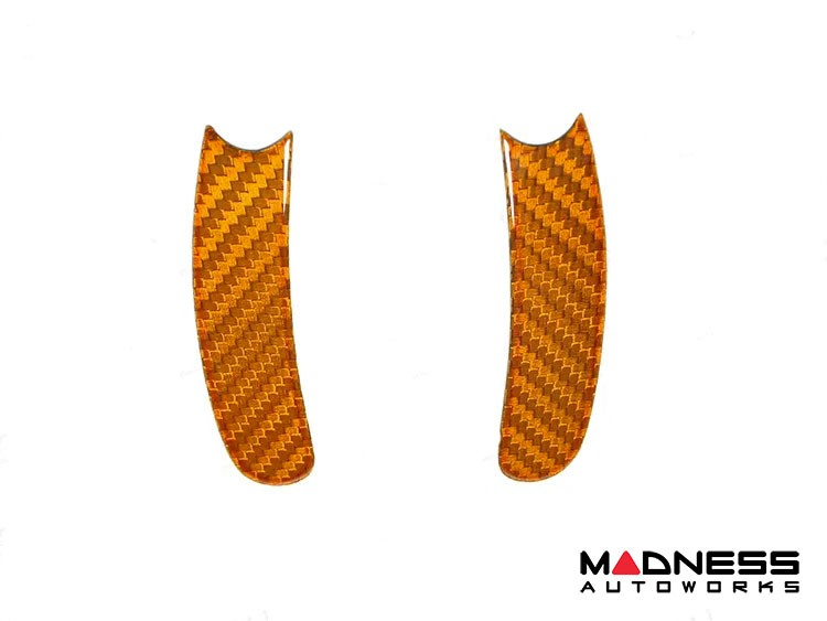 FIAT 500 ABARTH Paddle Shifter Trim Kit - Carbon Fiber - Orange