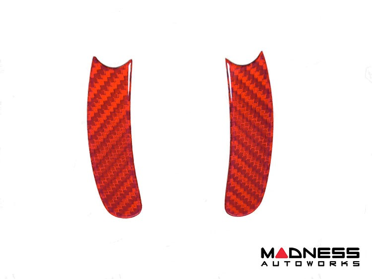 FIAT 500 ABARTH Paddle Shifter Trim Kit - Carbon Fiber - Red