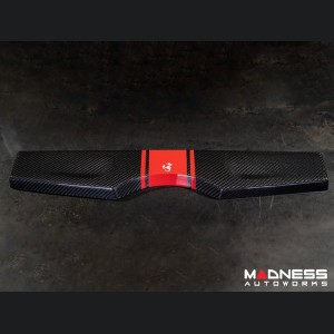 FIAT 500 Parcel Shelf - Carbon Fiber - Red Racing Stripe w/ White Scorpion