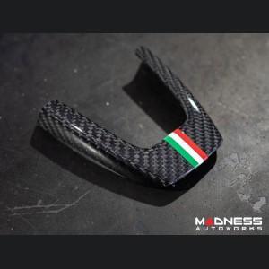FIAT 500 ABARTH Steering Wheel Trim Set (3 pieces) - Carbon Fiber Italian Racing Stripe