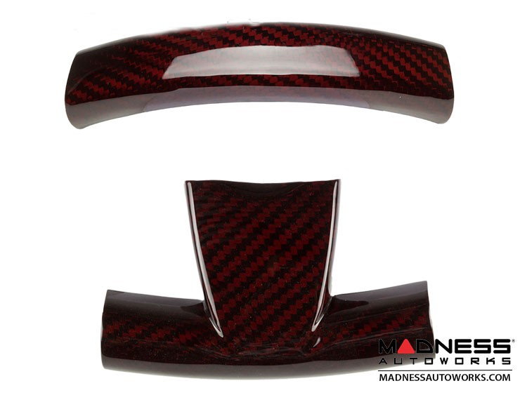 FIAT 500 ABARTH Steering Wheel Trim Set (2 pieces) - Red Candy