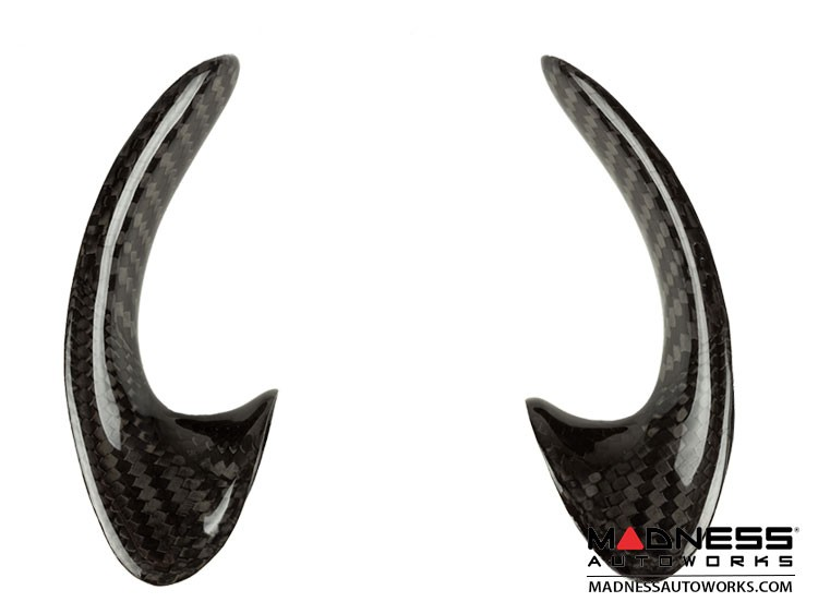 FIAT 500 ABARTH Steering Wheel Trim Set in Carbon Fiber (2 pieces) - Lateral Sides