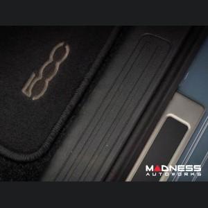 FIAT 500 Door Sills - Stainless Steel - ABARTH Logo