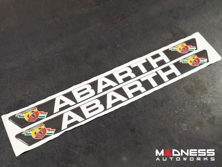 FIAT 500 Door Sill Trim - ABARTH Logo - Raised/ Embossed Decals