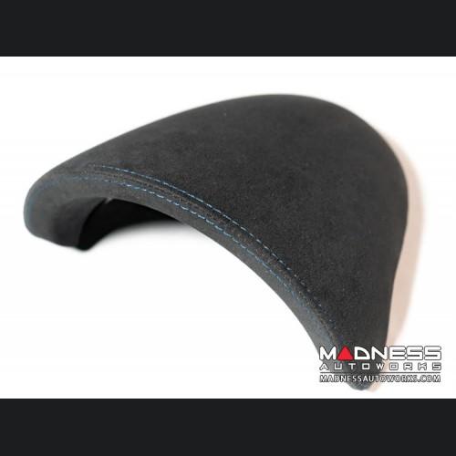 FIAT 500 Instrument Cover - Alcantara - Black w/ Blue Stitching