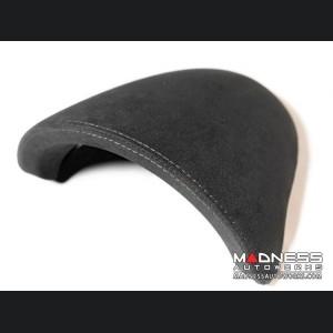FIAT 500 Instrument Cover - Alcantara - Black w/ White Stitching