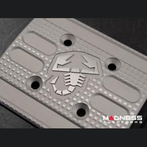 FIAT 500 Pedal Set + Footrest - Aluminum - Machined ABARTH + Scorpion Logos - Automatic
