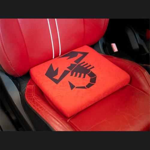 Seat Cushion - Red w/ ABARTH Scorpion Logo in Black