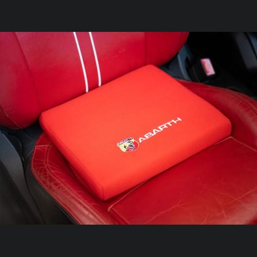 Seat Cushion - Red w/ ABARTH Crest + Logo in White