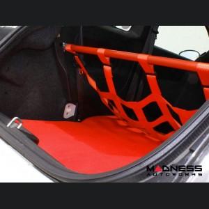 FIAT 500 Rear Seat Delete Carpet Kit - Red