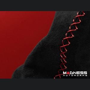 FIAT 500 eBrake Boot - Alcantara - Black w/ Red Cross Stitching