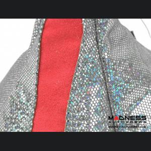 FIAT 500 Gear Shift Boot - Silver w/ Red Stripe