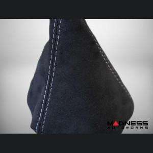 FIAT 500 Gear Shift Boot - Alcantara - Black w/ White Stitching