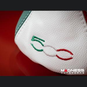 FIAT 500 Gear Shift Boot - Italian Colors Leather w/ 500 Logo