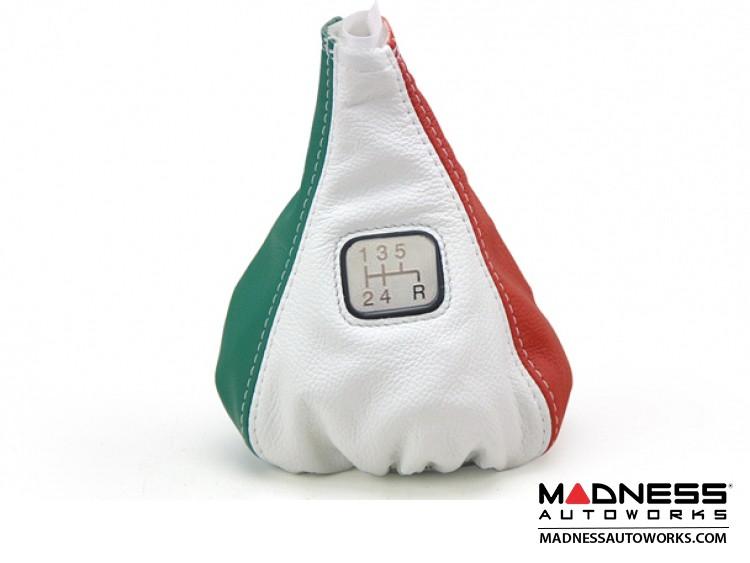 FIAT 500 Gear Shift Boot - Italian Colors Leather w/ Gear Shift Pattern