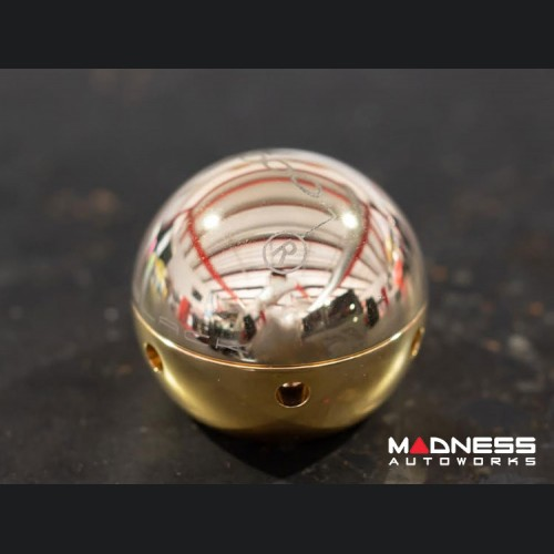 FIAT 500 Gear Shift Knob by BLACK - Rose Gold Top w/ Gold Base