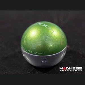 FIAT 500 Gear Shift Knob by BLACK - Metallic Green Top w/ Silver Base